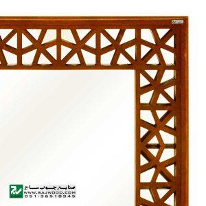 قاب آیینه دیواری سنتی چوبی دکوراتیو صنایع چوب ساج مدل 646