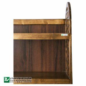 ویترین ، کتابخانه ، قفسه کتاب چوبی ، گنجه و دکور صنایع چوب ساج مدل 632