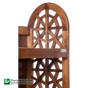 گنجه و دکور ، ویترین ، کتابخانه ، قفسه کتاب چوبی ، صنایع چوب ساج مدل 632