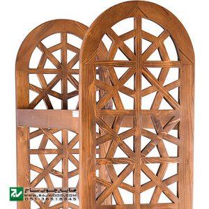 کتابخانه چوبی و ویترین ، گنجه، قفسه کتاب صنایع چوب ساج مدل 629