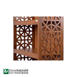 قفسه کتاب چوبی ، ویترین، کتابخانه، گنجه و دکور صنایع چوب ساج مدل 632