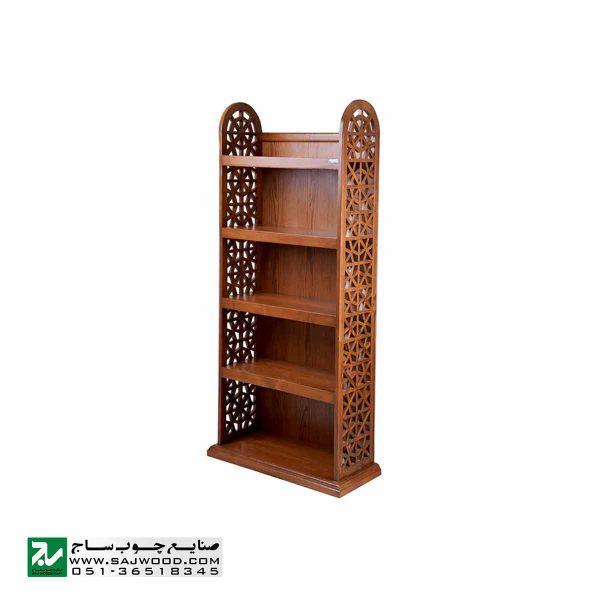 قفسه کتاب چوبی ، کتابخانه ، ویترین ، گنجه و دکور صنایع چوب ساج مدل 632