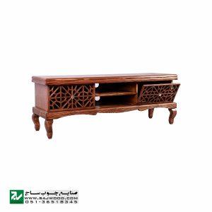 میز ال سی دی و تلویزیون LCD / LED چوبی سنتی صنایع چوب ساج مدل 321