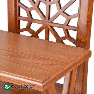 میز و صندلی چوبی تحریر، نماز صنایع چوب ساج مدل 642