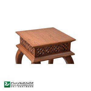 میز تلفن و خاطره چوبی ، دکوری ، آباژور کلاسیک صنایع چوب ساج مدل 306