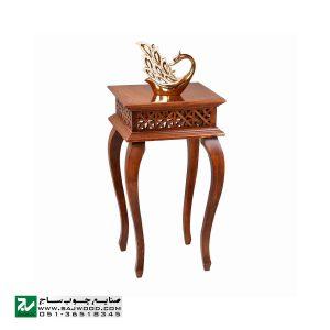 میز خاطره و تلفن چوبی ، دکوری ، آباژور سنتی صنایع چوب ساج مدل 306