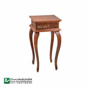 میز خاطره و تلفن چوبی ، دکوری ، آباژور کلاسیک صنایع چوب ساج مدل 306