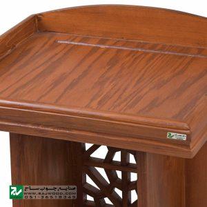 میز تریبون سخنرانی چوبی سنتی ایستاده صنایع چوب ساج مدل 315