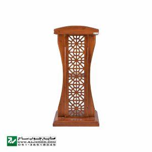 میز تریبون سخنرانی سنتی چوبی ایستاده صنایع چوب ساج مدل 315