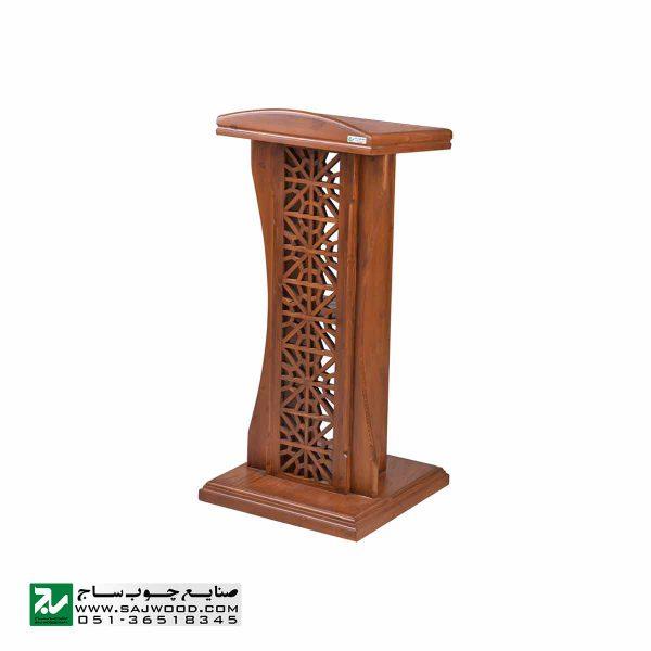 میز تریبون سخنرانی چوبی ایستاده صنایع چوب ساج مدل 315