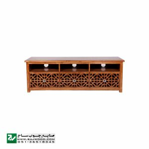میز تلویزیون و ال سی دی چوبی LCD / LED صنایع چوب ساج مدل 307