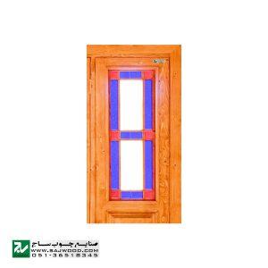 پنجره شیشه رنگی ارسی چوبی صنایع چوب ساج مدل W203