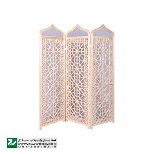 پاراوان پارتیشن متحرک سنتی صنایع چوب ساج مدل 501
