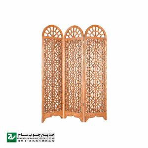 پاراوان دستساز چوبی ، پارتیشن متحرک صنایع چوب ساج مدل 504