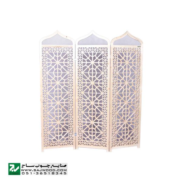 پاراوان پارتیشن متحرک چوبی سنتی صنایع چوب ساج مدل 501