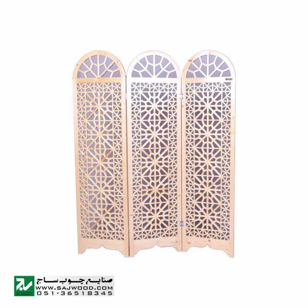 پارتیشن پاراوان متحرک چوبی سنتی اداری ، منزل صنایع چوب ساج مدل 503