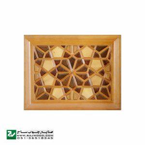 درب سنتی ورودی اماکن مذهبی ،مسجد،امامزاده چوبی صنایع چوب ساج مدل C10