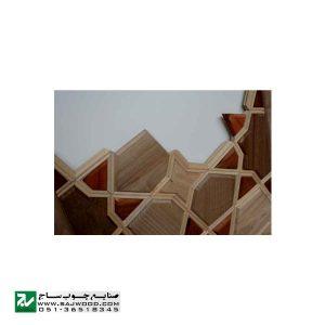 درب چوبی ورودی حرم ،مسجد، اماکن متبرکه صنایع چوب ساج مدل L8