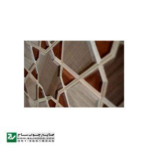 درب سنتی چوبی ورودی حرم ،مسجد، امامزاده صنایع چوب ساج مدل L8
