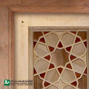درب سنتی ورودی حرم ،مسجد، امامزاده صنایع چوب ساج مدل L8