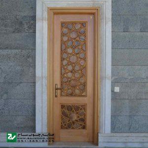 درب ورودی حرم ،مسجد، اماکن متبرکه صنایع چوب ساج مدل L8
