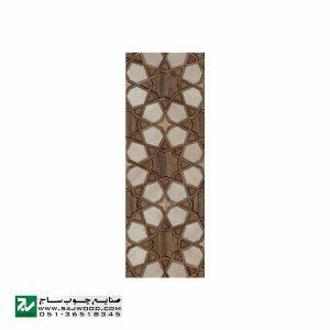 درب سنتی ورودی حرم ،مسجد، چوبی صنایع چوب ساج مدل L8
