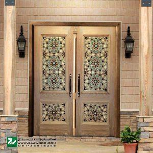 درب سنتی ورودی اماکن متبرکه ،مسجد،امامزاده صنایع چوب ساج مدل T10KH