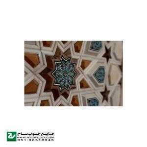 درب چوبی سنتی ورودی اماکن متبرکه ،مسجد،امامزاده صنایع چوب ساج مدل T10KH
