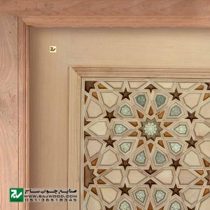 درب سنتی چوبی ورودی اماکن متبرکه ،مسجد،امامزاده صنایع چوب ساج مدل T10KH