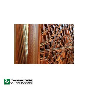 درب چوبی سنتی ورودی حسینیه ،مسجد، اماکن متبرکه صنایع چوب ساج مدل T12