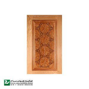 درب ورودی حسینیه ،مسجد، اماکن متبرکه چوبی صنایع چوب ساج مدل T12