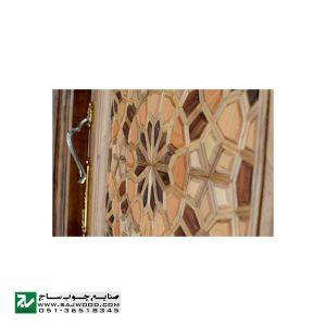 درب سنتی چوبی ورودی آپارتمان و ساختمان ، هتل صنایع چوب ساج مدل T12A