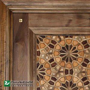 درب سنتی ورودی آپارتمان و ساختمان ، هتل صنایع چوب ساج مدل T12A