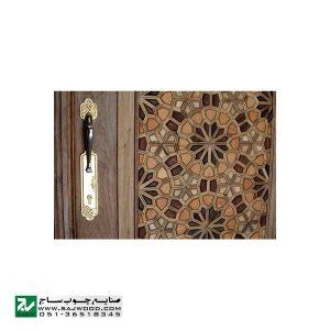 درب چوبی ورودی آپارتمان و ساختمان ، ویلا سنتی صنایع چوب ساج مدل T12A