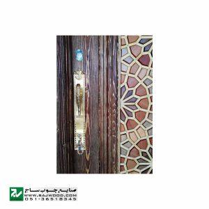 درب ورودی هتل چوبی ، آپارتمان و ساختمان سنتی صنایع چوب ساج مدل T12B