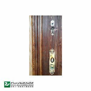درب ورودی هتل سنتی، آپارتمان و ساختمان صنایع چوب ساج مدل T12B