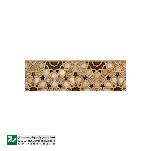 درب سنتی چوبی ورودی نمازخانه ،مسجد،اماکن متبرکه صنایع چوب ساج مدل TCG10