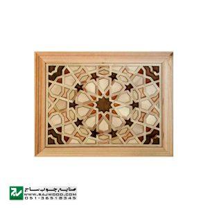 درب چوبی ورودی نمازخانه ،مسجد،اماکن متبرکه سنتی صنایع چوب ساج مدل TCG10