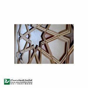 درب چوبی سنتی ورودی امامزاده ، مسجد ، نمازخانه صنایع چوب ساج مدل TT10