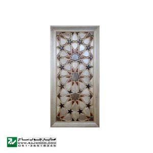درب سنتی ورودی امامزاده ، مسجد ، نمازخانه صنایع چوب ساج مدل TT10