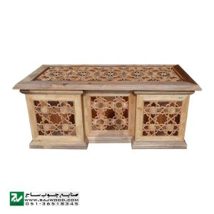 میز اداری و مدیریتی چوبی کلاسیک صنایع چوب ساج مدل 327