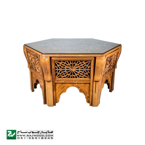 میز و صندلی غذا خوری صنایع چوب ساج مدل 328