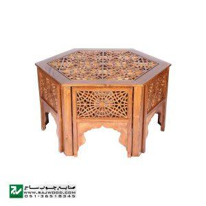 میز و صندلی ناهار خوری صنایع چوب ساج مدل 320