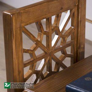 میز و صندلی نماز و تحریر چوبی صنایع چوب ساج مدل 647