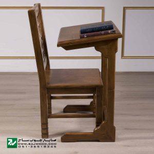 میز و صندلی نماز و تحریر سنتی صنایع چوب ساج مدل 647
