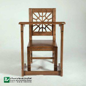 میز و صندلی نماز و تحریر سنتی چوبی صنایع چوب ساج مدل 647
