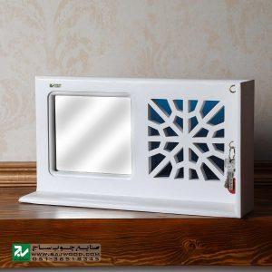 جا کلیدی و شلف دیواری چوبی صنایع چوب ساج مدل 612