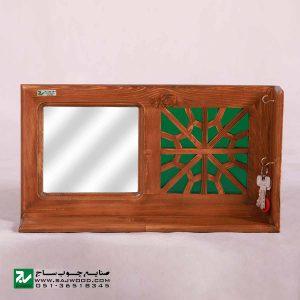 شلف دیواری و جا کلیدی چوبی سنتی صنایع چوب ساج کد 622