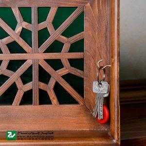 شلف دیواری و جا کلیدی سنتی صنایع چوب ساج کد 622