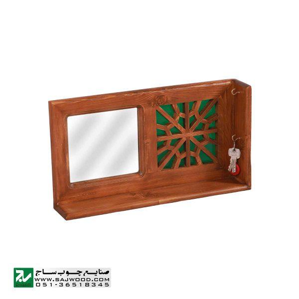 شلف دیواری و جا کلیدی صنایع چوب ساج کد 622